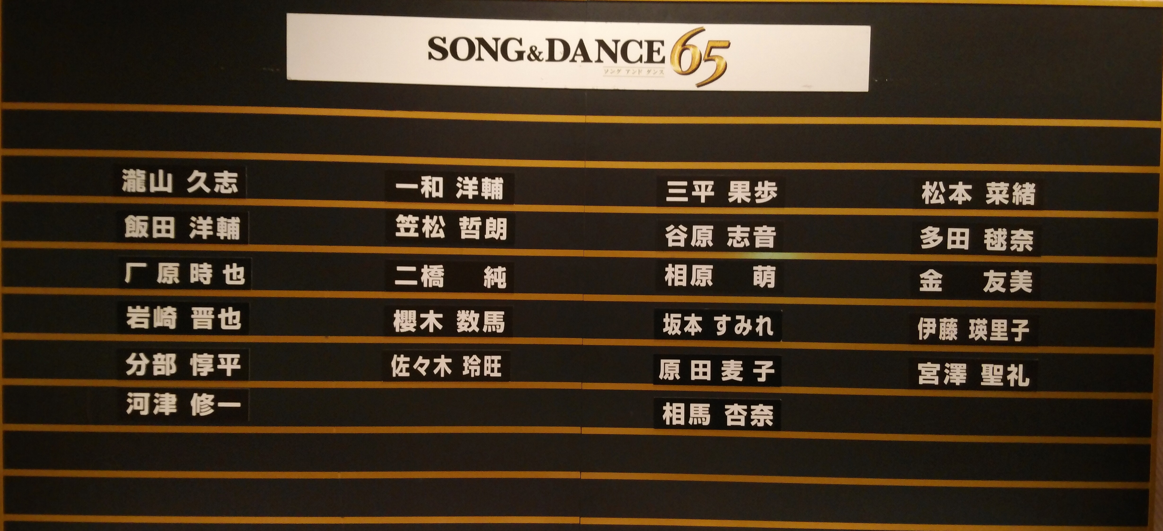 劇団四季「SONG&DANCE65」inロゼシアター